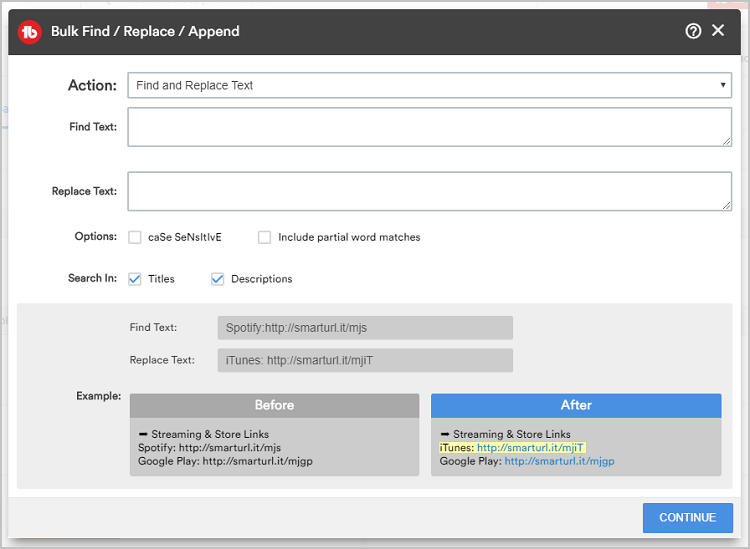 Bulk Find Append Tubebuddy Feature