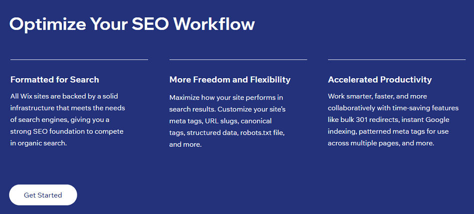 Wix SEO Features New